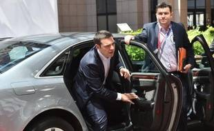 Le Premier ministre grec Alexis Tsipras le 10 juin 2015 à Bruxelles