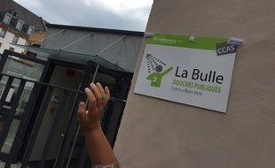 Le local La Bulle. Strasbourg le 16 juillet 2019.