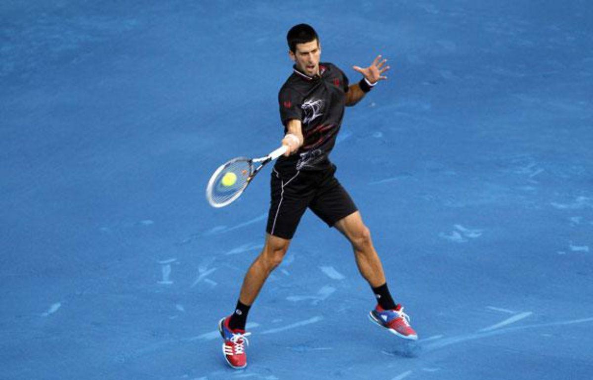 Novak Djokovic au tournoi de Madrid, le 8 mai 2012. – REUTERS/Susana Vera