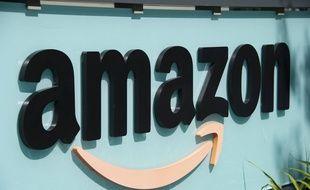 Le logo d'Amazon à Palo Alto, en Californie (illustration).