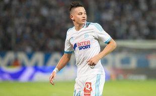 Florian Thauvin lors du match entre Marseille et Saint-Etienne le 24 septembre 2013.