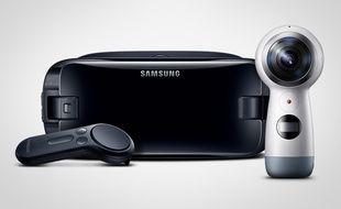 La nouvelle caméra Gear 360 de Samsung sera disponible fin avril 2017.