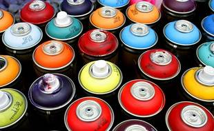 Des bombes de peinture. Illustration.