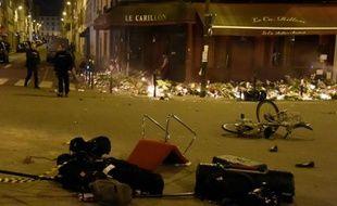 """Une fausse victime des attentats du 13 novembre, qui affirmait se trouver à la terrasse du Carillon (ici le 15 novembre) bientôt jugée pour """"escroquerie"""""""