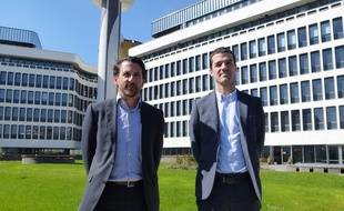 Pascal Martin, président d'Armorgreen, et Vincent Legendre, co-gérant du groupe familial.
