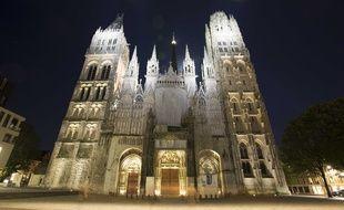La façade de la cathédrale de Rouen (Seine-Maritime)