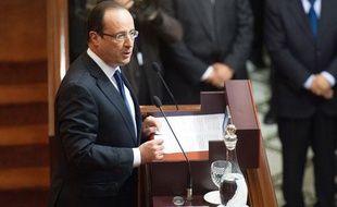 Le président de la République François Hollande au Parlement marocain à Rabat, le 4 avril 2013.