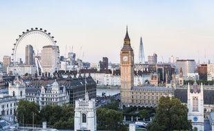 Vue de Londres depuis les toits.