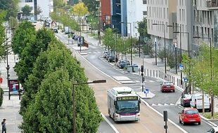 Le boulevard Vincent-Gâche a été profondément modifié par l'arrivée du C5.