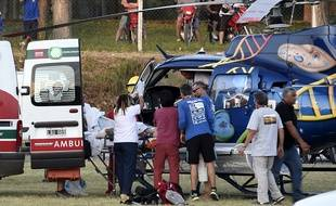 Les secours lors de l'accident sur le Dakar, le 2 janvier 2016, en Argentine.