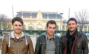 Julien, Matthieu et Valentin.