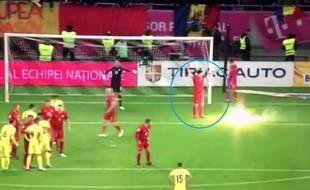Le pétard a été jeté juste à côté de Lewandowski