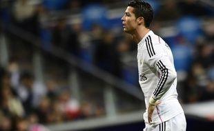 L'attaquant du Real Madrid Cristiano Ronaldo, le 14 février 2015 au stade Santiago-Bernabeu.