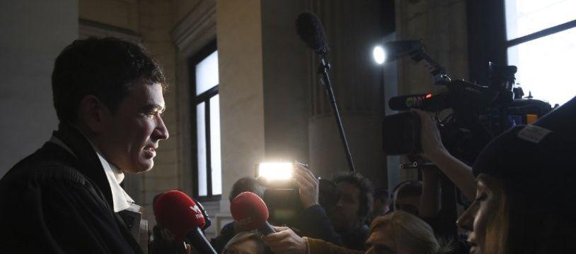 Sebastien Courtoy, l'un des avocats de Mehdi Nemmouche lors de son procès pour l'attentat du musée juif de Bruxelles, en janvier 2019.