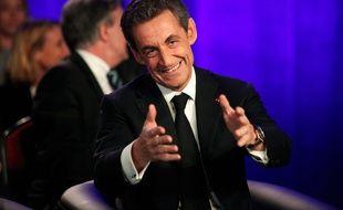 Le président de l'UMP Nicolas Sarkozy, le 24 mars 2015 à Asnières.