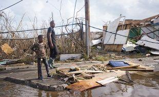 À Marigot, sur l'île de Saint-Martin, le 7 septembre, après le passage de l'ouragan Irma.