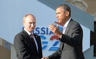 Vladimir Poutine accueille Barack Obama le 5 septembre 2013 au sommet du G20 à Saint-Pétersbourg