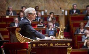Claude Bartolone, le président de l'Assemblée Nationale, lors des questions au gourvernement, le 10 avril 2013.