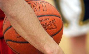Un ballon de basket. (illustration)