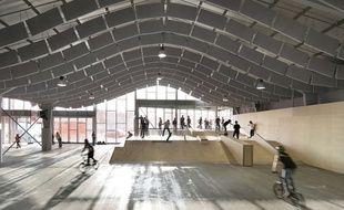 Zap' Ados Skatepark,  à Calais, conçu par Bang Architectes en 2011.