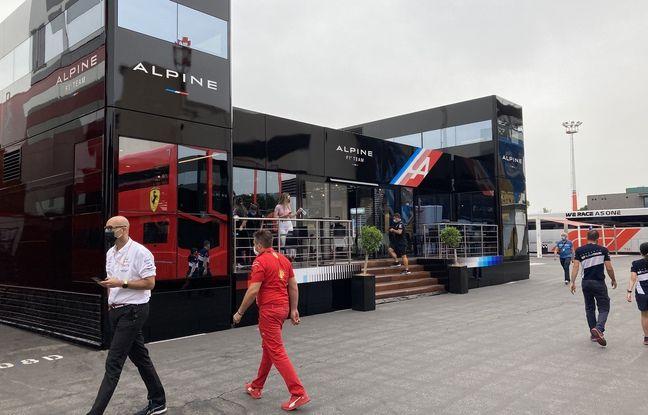 Le motor-home d'AlpineF1 Team.