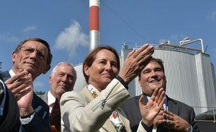 Strasbourg, le 8 septembre 2015 - La ministre de l'Ecologie Ségolène Royal lors de la première injection de biométhane produit à partir d'eaux usées dans le réseau de gaz naturel.