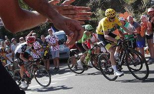 Christopher Froome n'a pas que des amis dans le public au bord des routes du Tour de France.