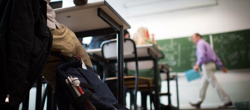 Une salle de classe à Paris accueillant un élève aveugle (image d'illustration).