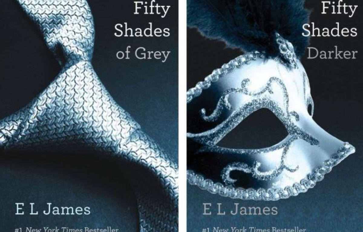 Les deux premiers tomes de la saga érotique à succès de E.L. James. – AP/SIPA