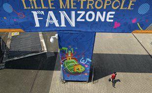 La fan zone installée à Lille pour l'Euro 2016 (illustration).