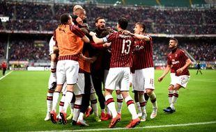 Les joueurs de l'AC Milan.