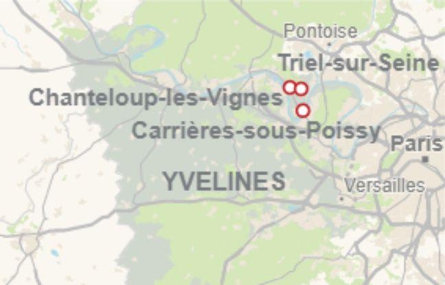 Dans les Yvelines, la plaine qui s'étend de Carrières-sous-Poissy, Triel-sur-Seine et Chanteloup-les-Vignes est couverte de 5.000 tonnes de déchets.