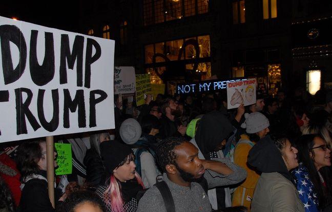 Manifestation anti - Trump à New York, le 12 novembre 2016