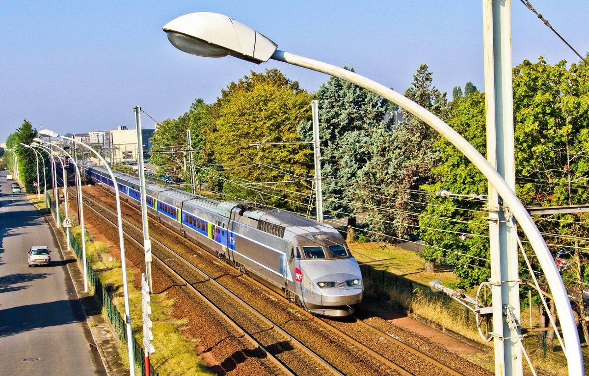 Illustration d'un TGV. – GILE MICHEL/SIPA
