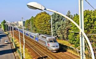 Illustration d'un TGV.