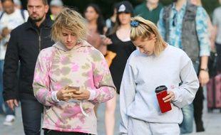 Le chanteur Justin Bieber et sa femme la mannequin Hailey Baldwin.