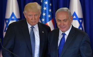 Donald Trump aux côtés du Premier ministre israélien Benjamin Netanyahu, le 22 mai 2017 à Jérusalem.