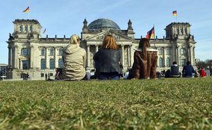Vue extérieure du Reichstag à Berlin en mars 2017.