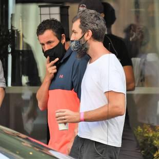 Adam Sandler et Jeremiah Zagar, le 20 septembre, à Philadelphie.