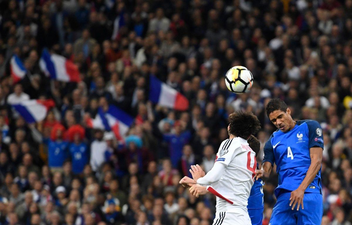 La France joue sa place pour la Coupe du monde 2018 face à la Biélorussie, le 10 octobre 2017. – AFP