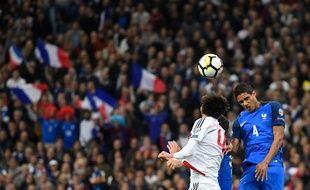 La France joue sa place pour la Coupe du monde 2018 face à la Biélorussie, le 10 octobre 2017.