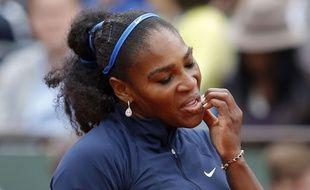 Serena Williams lors de sa finale à Roland-Garros le 4 juin 2016.