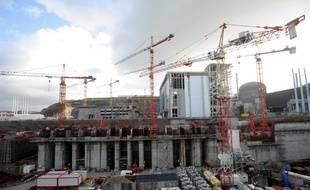 Le chantier de l'EPR de Flamanville le 26 novembre 2009.