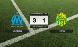 OM - FC Nantes: L'OM vainqueur du FC Nantes 3 à 1 à l'Orange Vélodrome