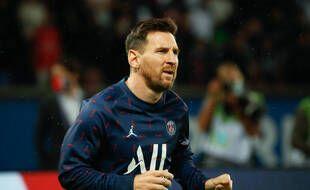 Lionel Messi lors du match entre le PSG et l'OL, au Parc des princes le 19 septembre 2021.