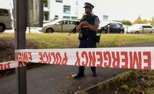 Un cordon de sécurité après les attentats de Christchurch.
