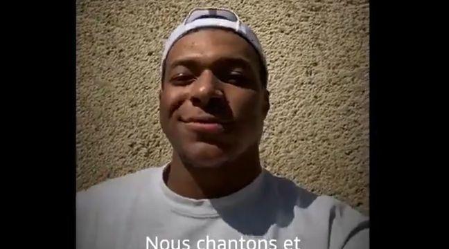 VIDEO. L'équipe de France apporte son soutien au personnel soignant