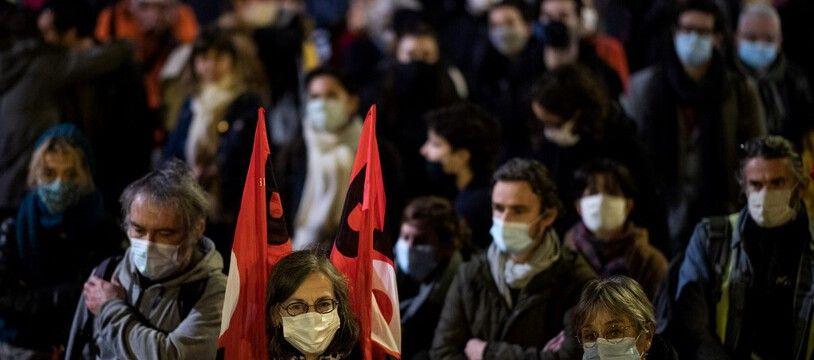 Avant Noël, plusieurs journées de mobilisation avaient déjà réunies des dizaines de milliers de personnes. Comme ici à Nantes. (archives)