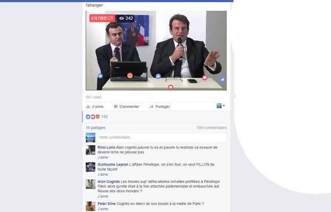 Capture écran Facebook live avec Thierry Solère