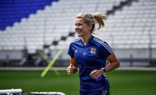 Ici à l'entraînement en juin au Parc OL, Ada Hegerberg a vécu une année 2020 quasiment blanche, en raison de deux grosses blessures.